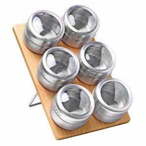 Комплект бурканчета за подправки с магнитна стойка