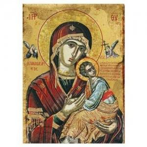 Дървена икона Св.Богородица Одигитрия
