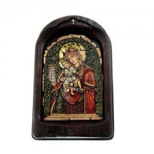 Дървена икона Света Богородица Достойно ест