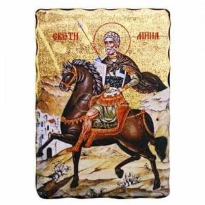 Икона Свети Мина 23 х 16.5см