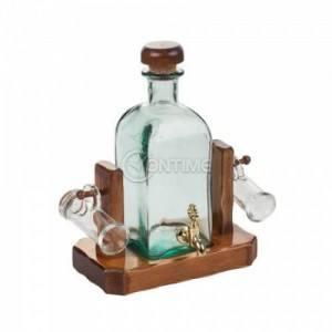 Комплкет за ракия бутилка 950ml с канелка и 2 чаши