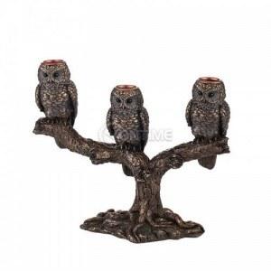 Декоративен свещник сови