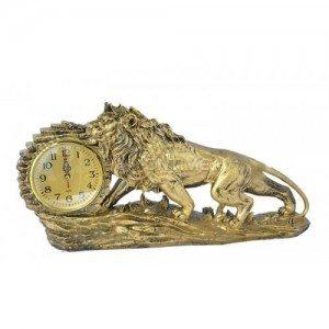 Декоративен часовник статуетка Лъв