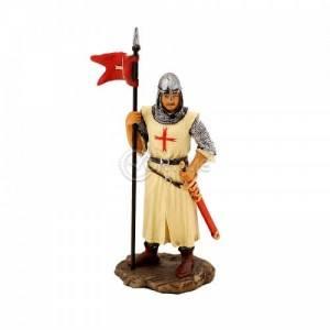 Статуетка на кръстоносец със знаме