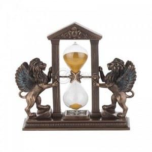 Декоративна статуетка Пясъчен часовник с лъвове