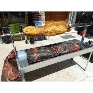 Чеверме скара барбекю грил за пилета и прасенца на дървени въглища