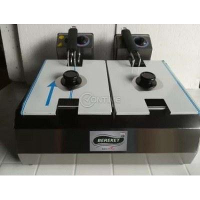Професионален електрически фритюрник с 2 вани по 5,5литра