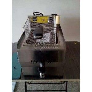 Професионален електрически фритюрник единичен 6 литра с кранче за източване на мазнината