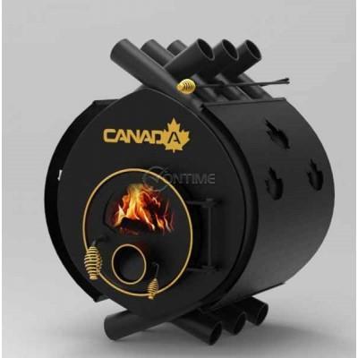 Калориферна печка на дърва Canada 01 със стъкло и защита