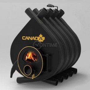Калориферна печка на дърва Canada 02 със стъкло