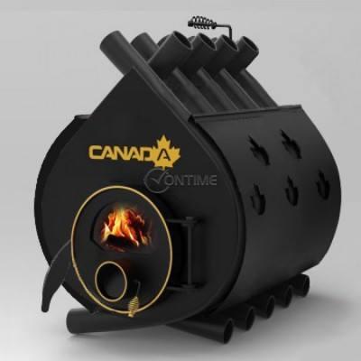 Калориферна печка на дърва Canada 02 със стъкло и защита