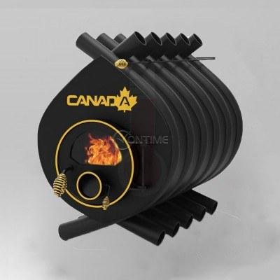 Калориферна печка на дърва Canada 03 със стъкло