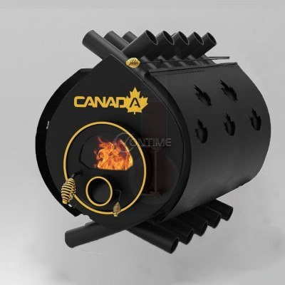 Калориферна печка на дърва Canada 03 със стъкло и защита