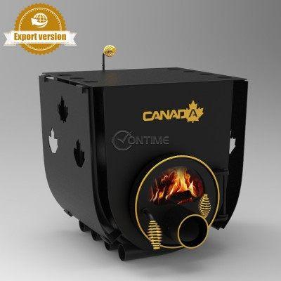 Печка на дърва Canada 01 classic за огрев и готвене със стъкло и защита