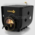 Печка на дърва Canada 02 classic за огрев и готвене със стъкло и защита