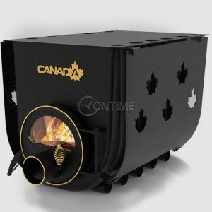 Печка на дърва Canada 03 classic за огрев и готвене със стъкло и защита