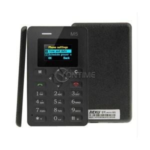 AEKU M5 ултра тънък мобилен телефон с цветен дисплей