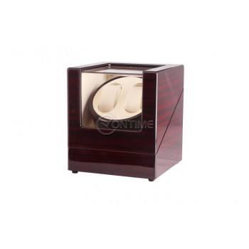 Дървена навиваща кутия за 2 часовника