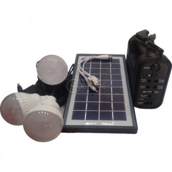 Комплект Соларна Система, фенер, 3 LED крушки