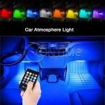 LED RGB светодиодни ленти и дистанционно за интериорно осветление в автомобила