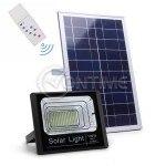 Градински соларен LED комплект, соларен панел, LED прожектор, Дистанционно управление, 40W