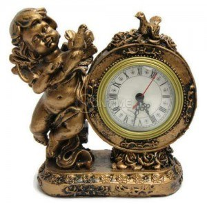 Часовнк статуетка ангел