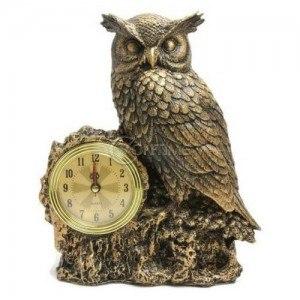 Декоративен часовник Сова