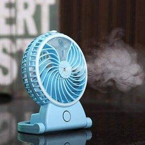 Акумулаторен вентилатор с овлажнител за въздух