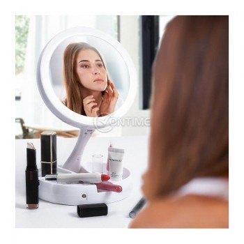 Огледало за грим сгъваемо и с LED осветление