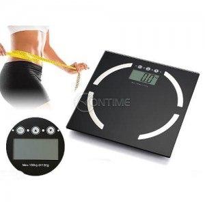 Електронен кантар за баня, човешко тегло и мазнини, 150кг