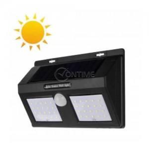 Соларна лампа за стена led диоди и сензор за движение