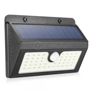 Соларна лампа за стена 43 led диоди и сензор за движение