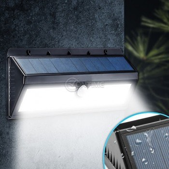 Соларна лампа за стена 40 led диоди и сензор за движение