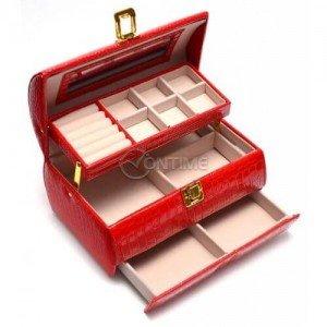 Кожена кутия за бижута