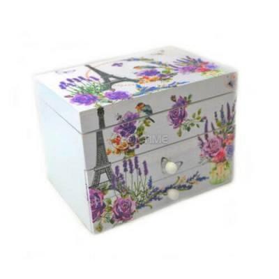 Кутия за бижута с три отделения