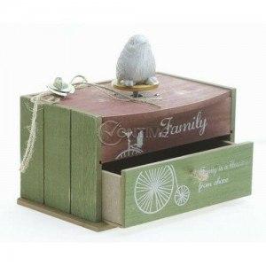 Музикална кутия за бижута с птиче