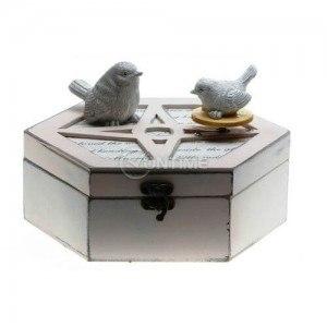 Музикална кутия с птички за бижута