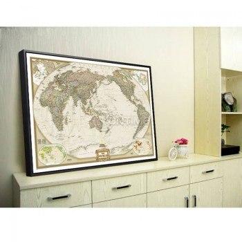 Карта на света в ретро стил