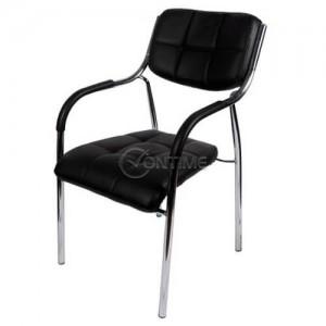 Тръбен трапезен стол с подлакътници
