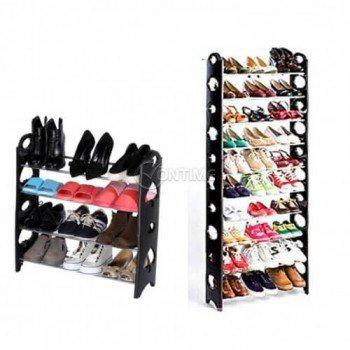 Поставка за обувки - разделяща се за 30 чифта