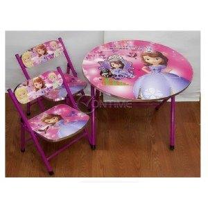 Детска масичка за момиче с 2 столчета Принцеса София