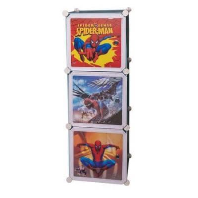 Детска етажерка с три отделения Spiderman