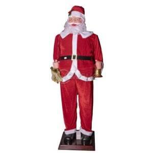 Голям сензорен Дядо Коледа 180см с подарък и камбанка