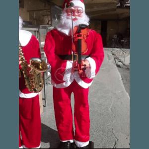 Танцуващ Дядо Коледа 180см със сензор за движение и цигулка