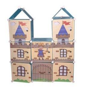 Детски шкаф за дрехи и играчки замък