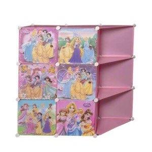 Детски шкаф за играчки и дрехи Принцеси