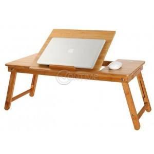 Голяма бамбукова маса за лаптоп с охладители