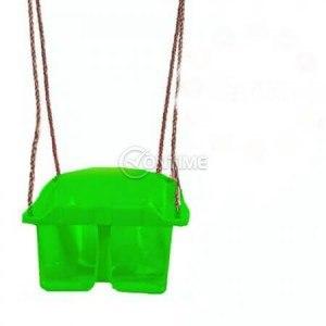 Детска люлка тип седалка зелена