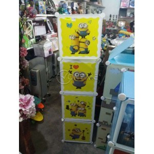 Детско шкафче за дрехи и играчки Миньони