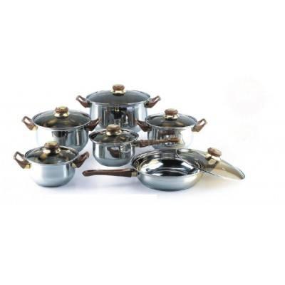 Комплект тенджери 6 части + тиган